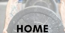 HOME and GARAGE GYM IDEAS / Doing CrossFit at home. These are some great ideas. Check out our gear at wodnationgear.com.