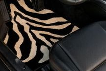 Zebra / We're big fans of the mesmerizing stripes of the zebra. We carry car mats, home mats, and pet placemats in the playful, stylish print. Here's some zebra inspiration for you!