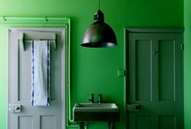 Bathrooms with bold colours / Who says bathrooms have to be white? As our inspiring pins show, bold colours can give a bathroom, even a small one, bags of personality. Be inspired by our bathroom ideas.