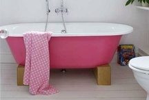 Cheap but chic ideas for bathrooms / No cash to splash? Browse our board to find out how to create a bathroom with the aplomb of Audrey Hepburn (Breakfast at Tiffany's) but the budget of Audrey Roberts (er, from Coronation St).
