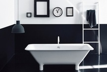 Black and white bathrooms / Monotone bathrooms are so easy to decorate and accessorise and, better still, they never date. Browse our board for ideas and inspiration