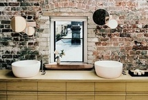 Ideas for bathroom walls / Want to create a bathroom that stands out from the crowd without spending a fortune? Give your walls special treatment to make your buck boom. Browse our board to find out how