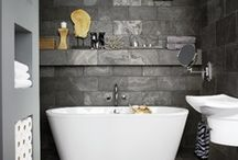 Stylish ways with bathroom wall tiles / Want to give your bathroom a makeover that won't cost the earth or need an interior designer to come up with? Tiles will do the trick - browse our board for inspiring ideas