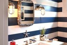 Nautical style bathrooms / Looking to give your bathroom a seaside style? Browse our board to find out how to get the look that's more Breton than Brentford (sorry Brentford)