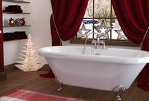 Christmas in the Bathroom / Don't neglect your bathrooms this christmas! make sure they get a bit of glamour and festive cheer too :)