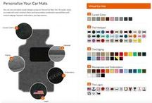 Design Your Car Mats / 3 Steps to Your Perfect Car Mats Starting at $70.00!  1. Select your vehicle's make, year and model in drop down boxes above. 2. Personalize them by choosing your preferred carpet, heelpad, embroidery and edging options 3. Place your order; we'll process and ship it in just 2 business days!