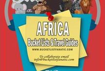 Africa — Bucket List Ideas & Guides / Great bucket list ideas and travel guides for Africa by the awesome Pinterest community.