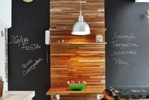 Chalkboard Paint / I see a huge trend towards using chalkboard paint as an accent in homes lately.  However, I am not very artistic so some of the uses and drawings seem way over my head.  Here are some simple ways to use chalkboard paint in every room of your home. / by Mountain Colors