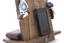 Cell Phone Docking Stations / Handcrafted, universal cell phone docking stations made in the USA!