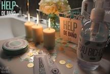 """HELP de BAÑO / Todo lo que necesitan las amigas de la novia en un casamiento! Viene en 3 presentaciones (Large - Medium - Small), con ambientación y productos de tocador. / by HNAS. Martín Martin """"objetos de diseño inspirados en momentos felices para festejar"""""""