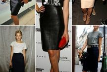Pencil skirt in different styles