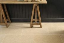 Country Kitchen Design Ideas / Ideas for creating a stunning country style kitchen with rustic Limestone flooring.