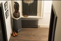 Dark Oak Flooring / Dark engineered oak flooring an floor boards for rustic and contemporary interiors.