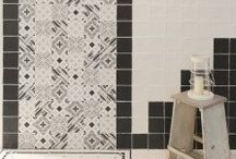 Madelaine Decor Porcelain Tiles / Collection of beautiful glazed porcelain floor & wall tiles with strong geometrical patterns and soft outlines, typical of the hand-made style.