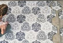 Decorative porcelain wall and floor tiles / Collection of stunning hexagonal shaped decorative porcelain wall and floor tiles.