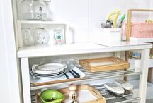 Montessori Kitchen / Get ideas for your Montessori kitchen setup. You'll need child-size tools for practical life activities like food preparation and cleaning. Make a snack station with a water dispenser to encourage independence. Your child can work and eat at a low table and chair vs learning tower.