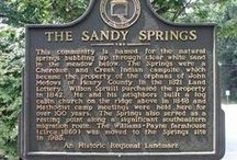 Sandy Springs / As Georgia's sixth largest city, Sandy Springs boasts big-city excitement with a small-town charm. With many miles of Chattahoochee River shore line and 11 beautiful parks, Sandy Springs is a great place to have an outdoor getaway.
