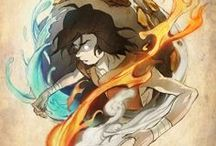 AVATAR ★ / Avatar: The Last Airbender (Avatar: The Legend of Aang) (2005-2008) Avatar: The Legend of Korra (2012 -) Produced by Michael Dante DiMartino and Bryan Konietzko 水善 (Water is Benevolent), 土強 (Earth is Strong), 火烈 (Fire is Fierce), and 氣和 (Air is Peaceful).