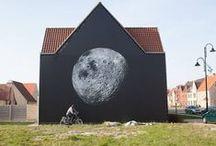 Street Art & graffiti / Ce qui est fabuleux avec le Street Art, c'est que c'est l'Art qui vient à vous et vous surprend au tournant d'une rue,  rendant les espaces gris et impersonnels,....vivants. / by Sylvie Leone