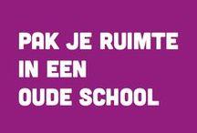 Pak je Ruimte in een school / Wonen in een voormalig klaslokaal, hoge plafonds, grote ramen en eindeloze mogelijkheden. www.pakjeruimte.nl