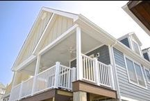 Home Rebuild with James Hardie Siding in Long Beach, NY / This home was rebuilt and raised after Hurricane Sandy. We used James Hardie Siding to complete this project in Long Beach, NY