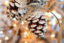 Decorazioni natalizie realizzate con le pigne / Pinecones Christmas DIY ideas / Idee creative per realizzare originali decorazioni natalizie con il riciclo delle pigne: un modo per ravvivare il Natale con idee fresche ed innovative #pinecones #christmas #DIY #ideas