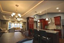 Interior Renovation in Bethpage, NY / We completed this Interior Renovation in the town of Bethpage, NY. This project included a new Kitchen, Living Room, and Dining room. We built Beautiful Tray Ceilings in the Dining and Living room area.