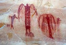 Rock Art / I fell in love with rock art when I studied Art History and discovered the prehistoric art from the famous caves in France. I love to find rock art and photograph it myself and I am amazed at all the fantastic photos available out in cyberspace!