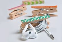 Recupero creativo delle mollette da bucato / Clothespins DIY ideas / Il recupero creativo delle mollette da bucato offre tante idee originali per arredare e decorare la casa, da riprodurre facilmente con pochi materiali