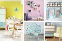 Ispirazione color pastello / Pastel colors home inspiration / Arredare con i colori pastello: come portare un'aria di freschezza alla propria casa con le tinte delicate, molto bon ton, che suscitano confort e relax #pastel #color #inspiration #home #decor
