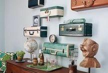 Riciclo creativo delle valigie vintage / DIY vintage suitcase / Tante idee creative da realizzare con il riciclo delle valigie vintage, un oggetto che torna in voga reinventandosi in originali complementi di arredo #recycle #DIY #vintage #suitcase