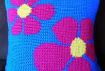 Crochet cushions & poufs