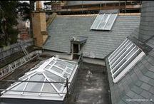 Cathays library, Cardiff 2010 / Roof lanterns and window sections.