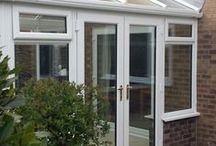 Tewkesbury 2015 / A simple clean Edwardian conservatory and all new windows in the house