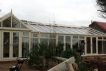 Western Super Mare 2014 / Existing Conservatory installed by Regent in 2011 and now an extension on to the conservatory and a swimming pool enclosure