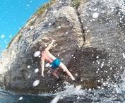 Deep Water Solo  & Cliff Jumping in Split, Croatia