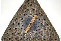 Triangular and hexogon mad weawe basketry