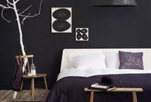 Beautiful Black Wall interiors / Eens iets anders. #Verf je muur zwart! #interieur