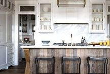 Reclaimed Wood in the Kitchen / With so many ways to add reclaimed wood to your kitchen, we've gathered an inspiring collection of looks.  Some our previous projects of ours, and others are projects that inspire us.