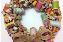 The Versatile World of Wreaths / Not just for doors and walls!  Hang from peg hooks, in the window, on gifts, on the table with a candle, decorate a package...Use your imagination on materials and personalize it! / by Dragonfly Fiberart Pattern Company