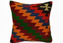 Boho Pillows / Bohemian Home Decor Kilim Cushion cover Rustic Pillow Sham 40x40 Shabby chic Boho Cushion 16x16 Accent Pillow Euro sham Country Home Decor