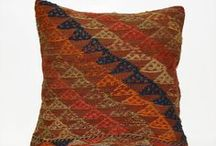Rustic Home Decor / Decorative Throw Pillow Ethnic Kilim Pillow Cover Bohemian Striped Cushion 40x40 Vintage Hand woven Boho pillow 16x16' Rustic Home decor