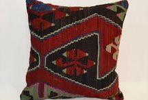 Bohemian Decor / Bohemian Home Decor Kilim Cushion cover Rustic Pillow Sham 40x40 Shabby chic Boho Cushion 16x16 Accent Pillow Euro sham Country Home Decor