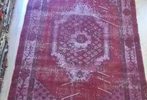 Overdyed Vintage Rug / Handmade from Overdyed Vintage Turkish Carpets, Neutral washed out colors