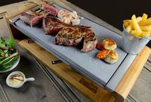 Sharing Stone Grill Set - Home and family dining on a sizzling hot rock / @blackrockgrill this is one of the top sellers. Get the taste and sizzle that is black rock grill find it at www.blackrockgrill.com