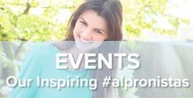 Our Inspiring #alpronistas / Our alpronistas ♥ to be part of happenings where plant-based food is the topic of the event.   Get inspired by their lifestyle and share your beautiful pictures with #alpronista!