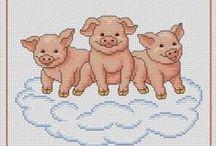 Trois petits cochons.....