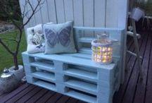 Palle møbler / Møbler og ting laget av paller. Kjempe stilig syns eg. Det e så mye så går an og finne på
