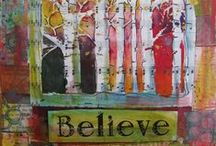Art: Mixed Media / Beautiful mixed media art from Colorado artists, mixed in with entertaining facts about the medium