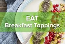 Breakfast Toppings / It's all in the details. And just like you always want to be on top of things, so are the most beautiful details. How can you pimp your breakfast? What goes great together? What gives that extra crunch or punch? Check out these amazing breakfast toppings.